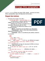 1 - Exercice HTML Structure de Base d Une Page HTML Titres p