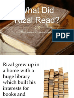 What Did Rizal Read