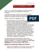 8 - Exercices HTML Frames Cadres Fenetres de Navigateur Ifra