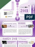 CAMON-Madrid. Programación Marzo 2013. Obra Social. Caja Mediterráneo