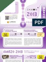 CAMON-Murcia. Programación Marzo 2013. Obra Social. Caja Mediterráneo