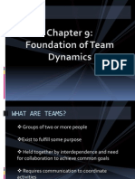 Foundation of Team Dynamics