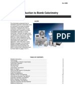 Introduction to Bomb Calorimetry