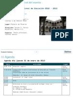 Agenda_VII Encuentro Internacional de Educación Proyecto México