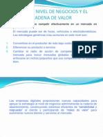 6. Estrategia a Nivel de Negocios y El Modelo de Cadena de Valor
