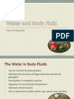 Water and Body Fluid 2012