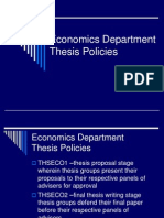 Economics Department Thesis Policies 32012-13