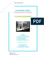 Laporan Hasil Praktikum Fisika - Fluida Dinamis (Kelompok 7 - Kelas XI IA - 2)