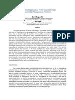 Improving Organization Performance Through Knowledge Management Practice1