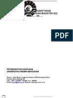 FORMULIR PROGRAM MAGISTER-S2 PPS UNM