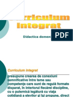 Curriculum Integrat