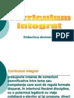 Curriculum Integrat
