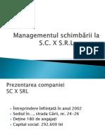 managementul schimbarii 1