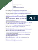 Paginas Web de Recursos de Lengua