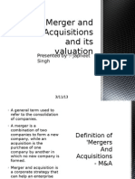 Merger and Acquisitions and Its Valuation a research report