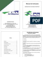 manual gerador de flocagem pneumática