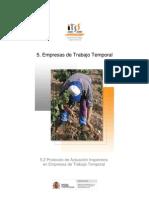 5.2 PROTOCOLO Empresas de Trabajo Temporal