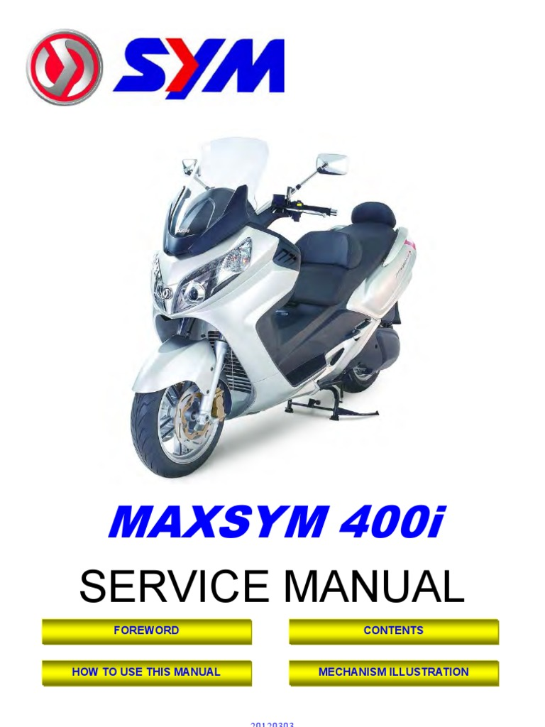 sym maxsym 400i en motor oil fuel injection rh scribd com Motor SYM Euro Sym Jet Euro Repair Manual