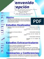 curriculum Bienvenido Concepción