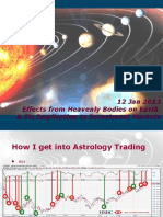 Financial Astrology - Effects From Planet Timing on Earth - Stock Trading