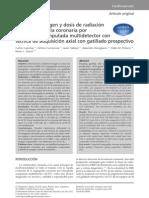 Calidad de imagen y dosis de radiación en coronariografía por tcmc prospectiva