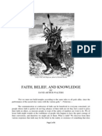 Faith, Belief, And Knowledge