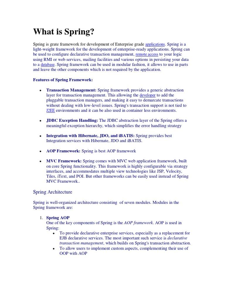What is Spring | Java Platform | Spring Framework