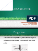 Polarisasi Linier