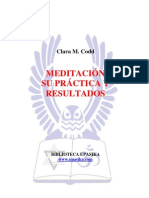 Meditación su práctica y resultados