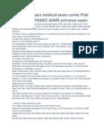 10 steps to pass medical exam usmle Plab Amc Nzrx AIPGMEE AIIMS entrance exam.docx