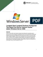 Panduan Mengkonfigurasi Two-Node Print Server Failover Cluster Pada Windows Server 2008