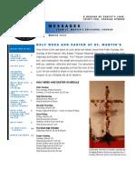 St. Martin's Episcopal Church Newsletter - March 2013
