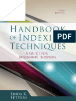 Handbook of Indexing Techniques, Fifth Edition