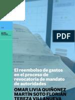 El reembolso de gastos en el proceso de revocatoria de mandato de autoridades
