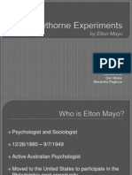 MGT 336 - Group 4 - Hawthorne Experiments