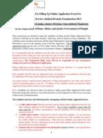 Instructions PPSC Civil Judge Posts