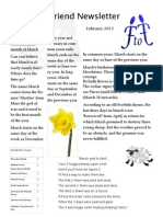 FTF Newsletter February 2013