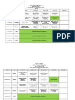 Final Time Table 11th March 2013 to 16th March 2013