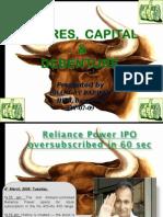 Shares, capital and debentures