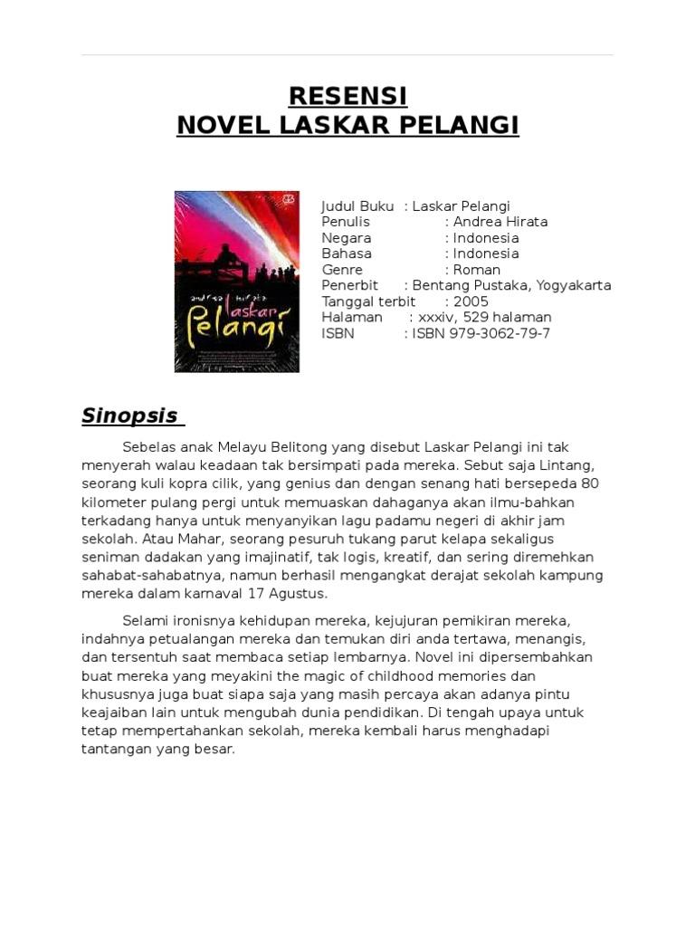 Ringkasan Novel Laskar Pelangi Lengkap Fasrzip