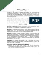 Acuerdo 016-2008 Rio San Eugenio