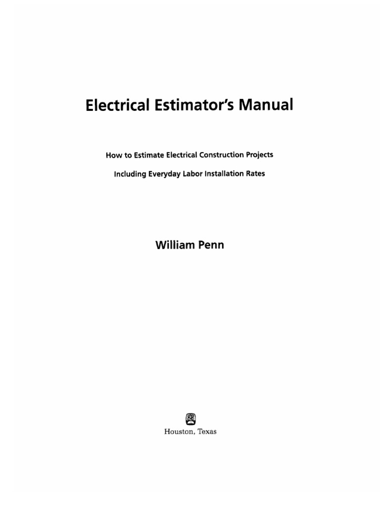 Nice Electrical Construction Estimating Contemporary - Simple Wiring ...