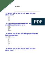 Test Stanford Binet