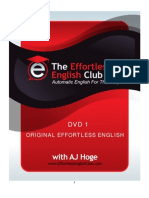 DVD 1.Original Effortless English