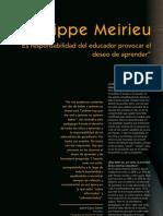 Meirieu, Philippe, Entrevista, CP
