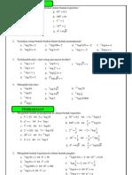 8. Mengubah Bentuk Pangkat Ke Bentuk Logaritma Dan Sebaliknya Dan Sifat Sifat Logaritma