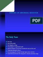 History of Abnormal Behaviour