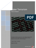 Cyber terrorism thesis