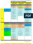 GUC Enrolled Students Midterm Schedule Spring 2013
