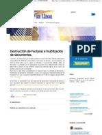 Destrucción de Facturas e inutilización de documentos. _ CONTADORENLINEA.com.ve